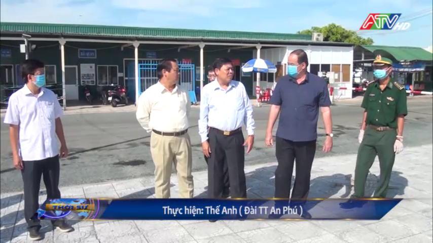 Chủ tịch UBND tỉnh Nguyễn Thanh Bình khảo sát thực tế và làm việc với UBND huyện An Phú - Nguồn : ATV