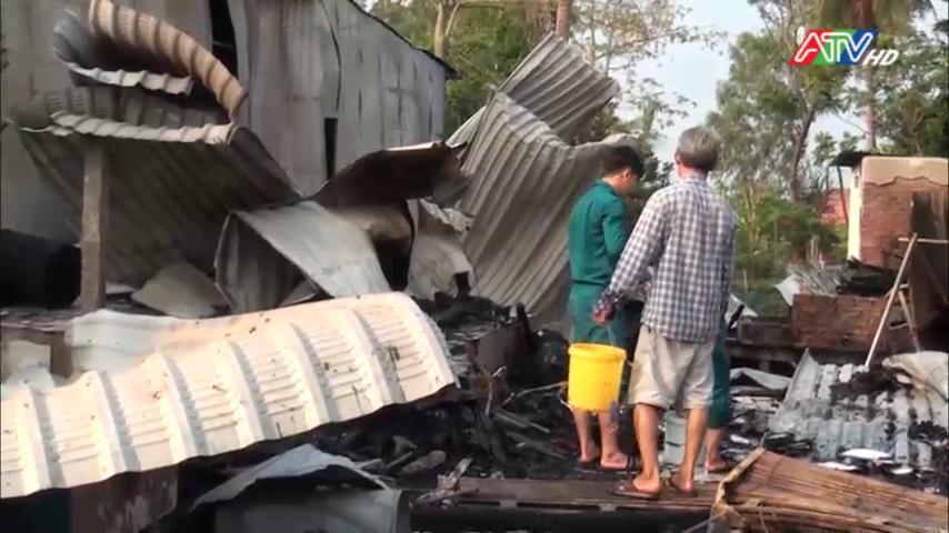 Hỏa hoạn thiêu rui 6 căn nhà tại xã Phước Hưng, huyện An Phú - Nguồn : ATV