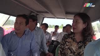 Đồng chí Võ Thị Ánh Xuân - Bí thư Tỉnh ủy kiểm tra công tác ứng phó lục bão, tìm kiếm cứu nạn trên địa bàn huyện An Phú - Nguồn : ATV