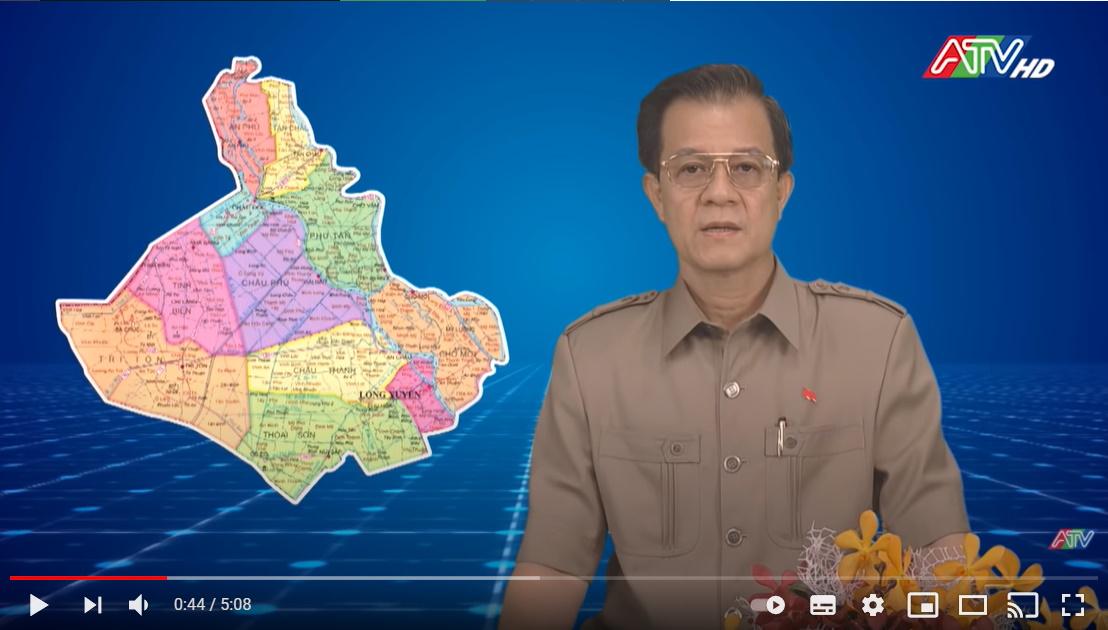 Bí thư Tỉnh ủy An Giang Lê Hồng Quang kêu gọi toàn dân, đoàn kết, chung sức, đồng lòng, đẩy lùi Covid-19