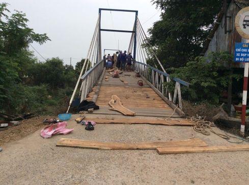 Ảnh: Cầu tuyến dân cư Bắc Cỏ Lau sau khi hoàn thành
