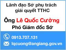 lãnh đạo phụ trách giải quyết TTHC SKHCN